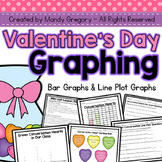 Valentine's Graphing: Bar Graphs and Line Plot Graphs