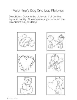 Valentine's Day Grid Map Activity