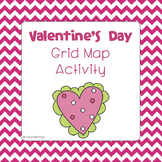 Valentine's Day Grid Map Activity