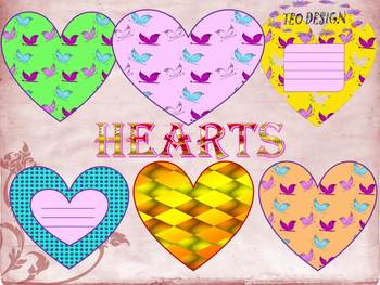 Valentine's Day - Hearts - Printables - Crafts - Clipart