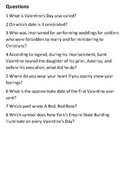 Valentines Day Handout