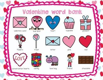 Valentine's Day Handwriting & Parts of Speech Practice