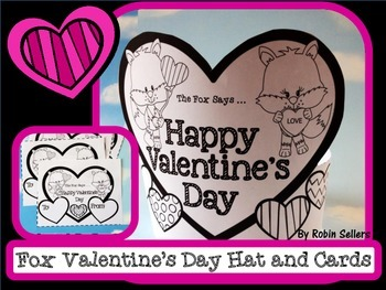 Valentine's Day Hat and Printable Valentines with a Fox {Valentine's Day Craft}