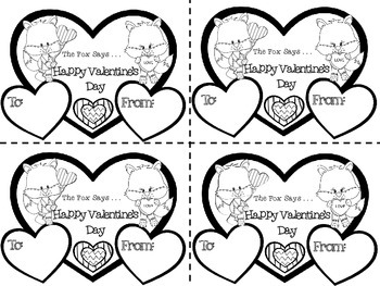 image relating to Happy Valentines Day Printable referred to as Valentines Working day Hat and Printable Valentines with a Fox Valentines Working day Craft