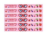 Valentines Day Healthy Snack Fruit Mask wrap for Healthy Classroom parties