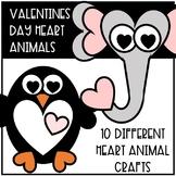 Valentines Day Heart Animal Crafts
