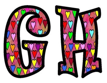 Valentine's Day Heart Bulletin Board Letters