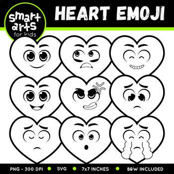 Valentines Day Heart Emoji Clip Art