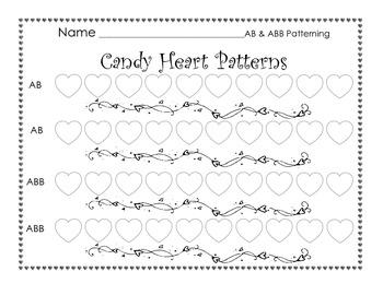 Valentine's Day Heart Patterning Worksheet
