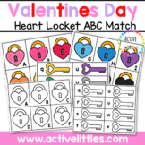 Valentines Day Heart Locket ABC Match Printable