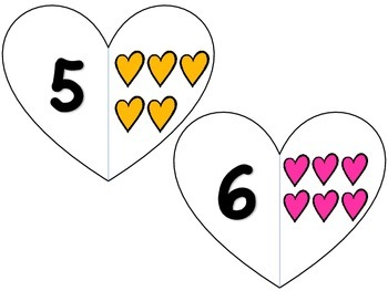 Valentine's Day Math Center - Number Identification and Counting Practice