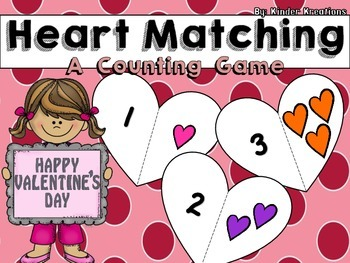Valentine's Day Math Center - Number Identification and Co