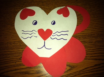 Valentine's Day Heart Shaped Cat