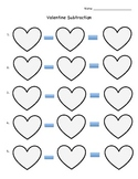 Valentine's Day Heart Subtraction