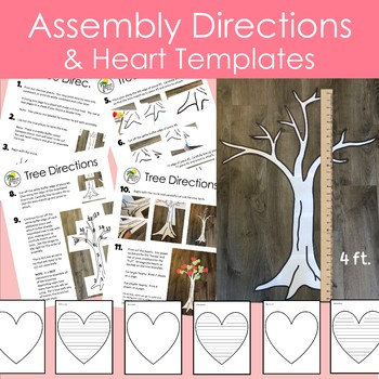 Valentines Day Heart Tree Decor and Writing Display