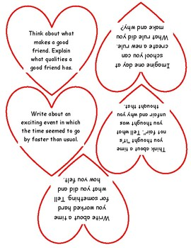 Valentines Day Heart Writing Prompts