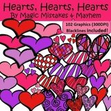 Clipart Hearts- 102 High Resolution Graphics!