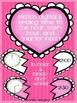 Valentine's Day Hearts Analog Clock & Digital Time Cut & Match! Math Station