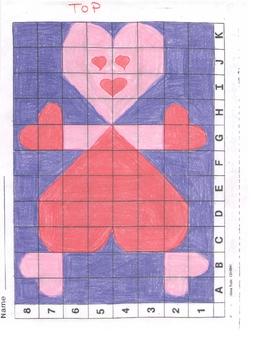 Valentine's Day Hearts Art Grid