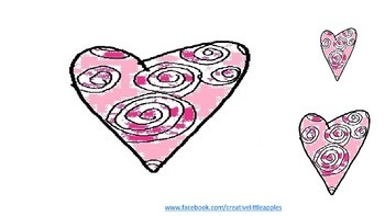 Valentine's Day {Hearts} Clip Art & Background (Simple format)