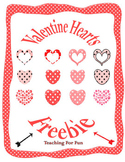 Valentine's Day Hearts Clipart Freebie PU and CU OK