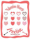 Valentine's Day Hearts Clipart Freebie PU and CU OK