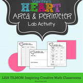 Composite Area and Perimeter Valentine's Heart Lab Activity