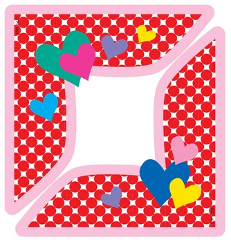 Valentine's Day Hearts Corners - Project and Artwork Frame