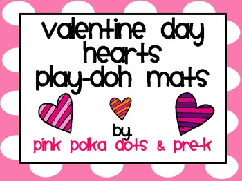 Valentine's Day Hearts Play-Doh Counting Mats