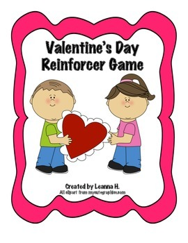 Valentine's Day Hearts Reinforcer Game