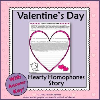 Valentine's Day Homophones Writing