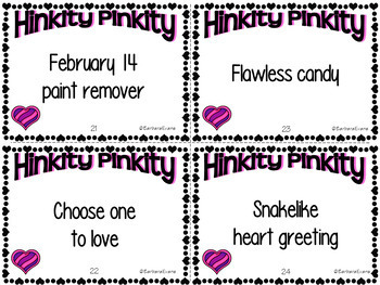 VALENTINE'S DAY HINK PINKS HINKY PINKIES HINKITY PINKITIES Critical Thinking GT