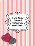 Valentine's Day Histogram Worksheet 6.SP.B.4