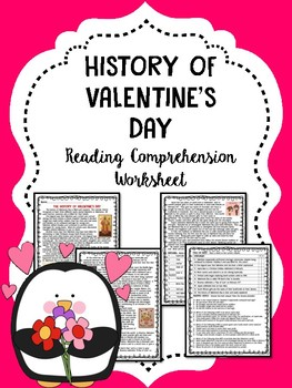 Valentines Day History Reading Comprehension Worksheet