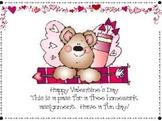 Valentine's Day Homework Pass