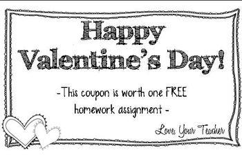 Valentine's Day Homework Pass FREEBIE