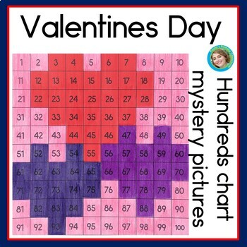 Valentines Day Hundreds Chart Mystery Pictures