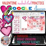 Valentines Day Digital Hundreds Chart Practice