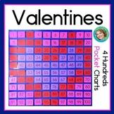 Valentines Day Activities   100s Pocket Charts
