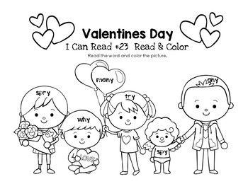 Valentines Day - I Can Read It! Roll, Read, and Cover (Lesson 23)