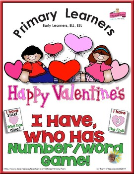 Valentines Day I Have Who Has Numbers Game - Number Words and Numerals