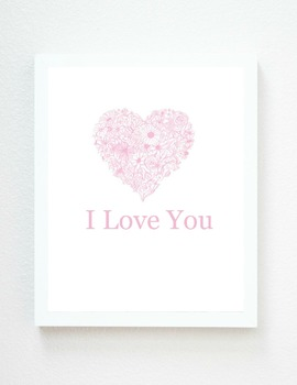 I LOVE YOU, Valentine's Day Printable