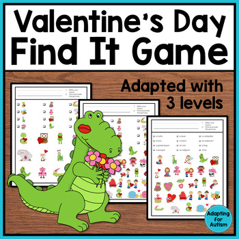 Valentine's Day Game: Find It adapted with 3 levels
