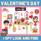Valentines Day I spy look and find - Boom Cards Distance Learning