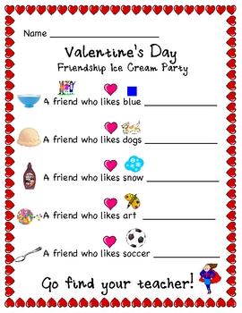 Valentine's Day Ice Cream Fun