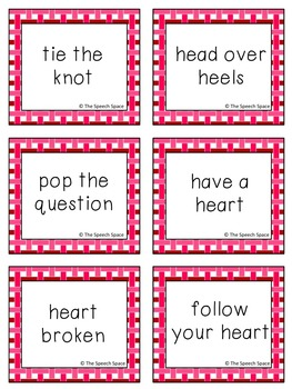 Valentine's Day Idiom Cards