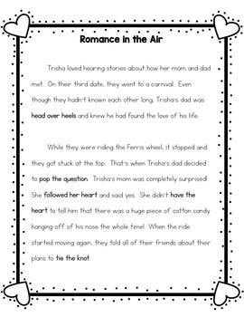 Valentine's Day Idioms - Common Core Aligned