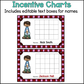 Incentive Charts with a Valentine's Day Theme