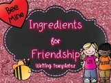 Valentine's Day Ingredients for Friendship Writing