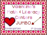 Valentine's Day JUMBO Pack (K-1 Math & ELA Pack- 35+ CCSS Centers)